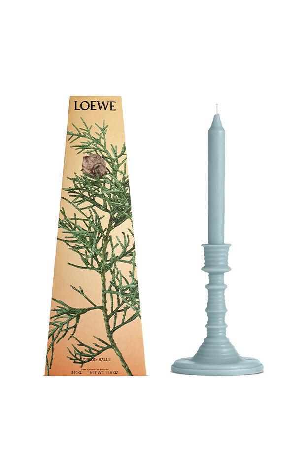 Cypress Balls wax candleholder