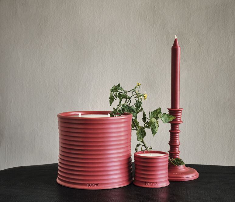 Tomato Leaves wax candleholder